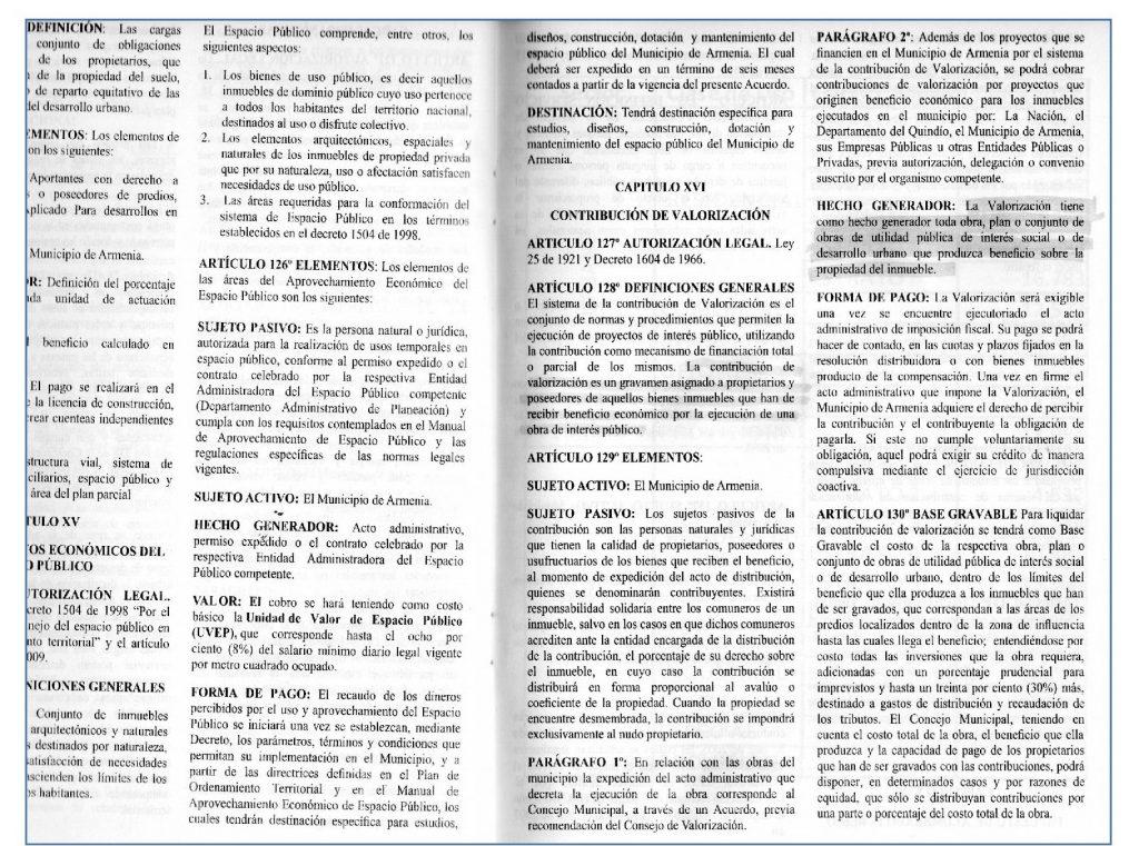 Acuerdo 017 y Articulo 45 Parágrafo H