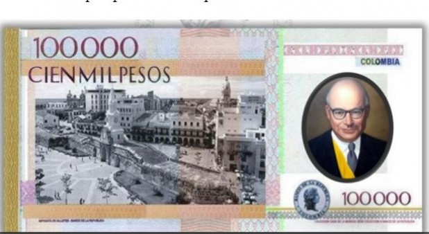 Billete de 100 mil pesos