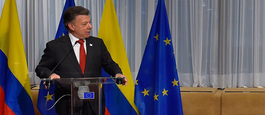 Presidente Santos en Bruselas
