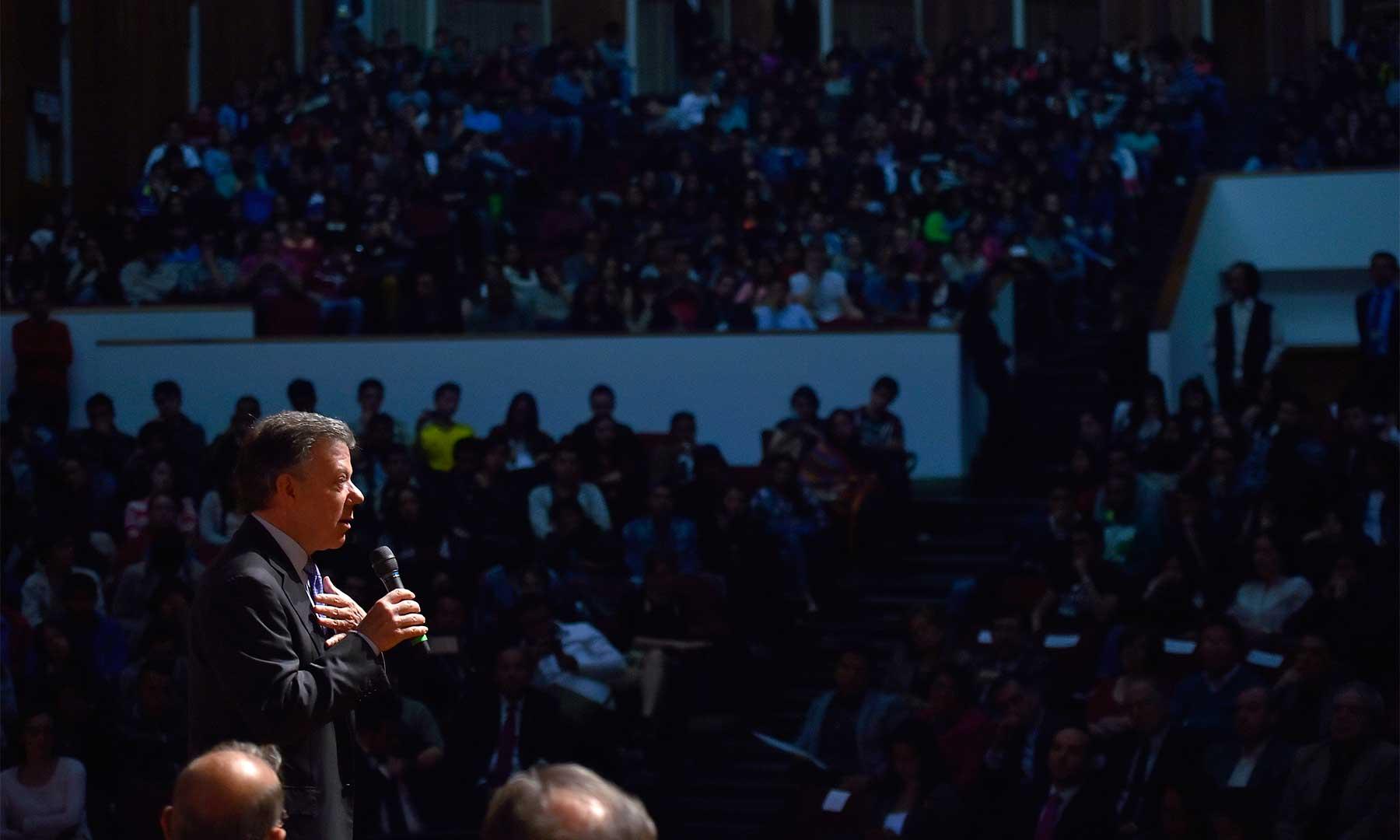Santos no convenció a los estudiante de la UN