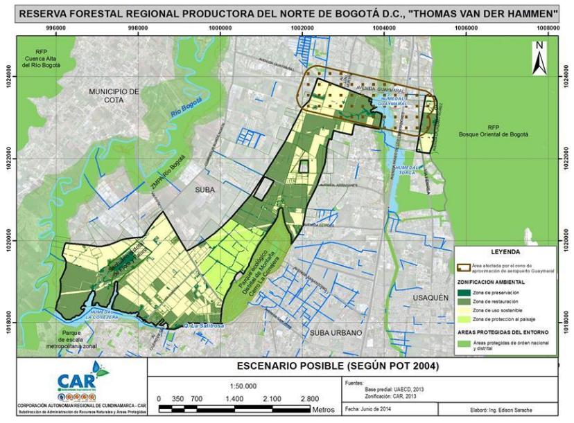Resultado de imagen para reserva thomas van der hammen mapa
