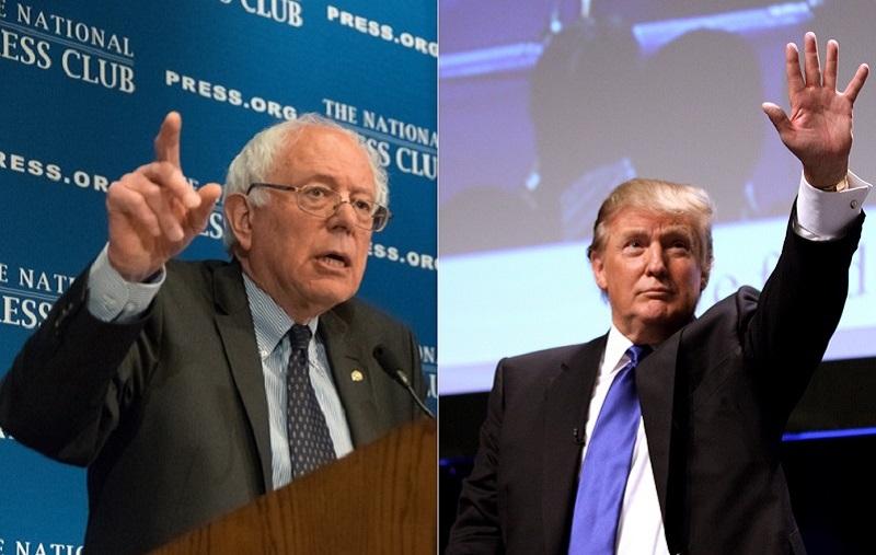 Bernie Sanders contra Donald Trump
